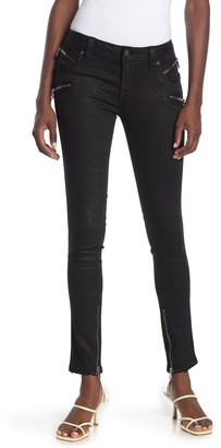 Rock Revival Skinny Zip Coated Moto Jeans