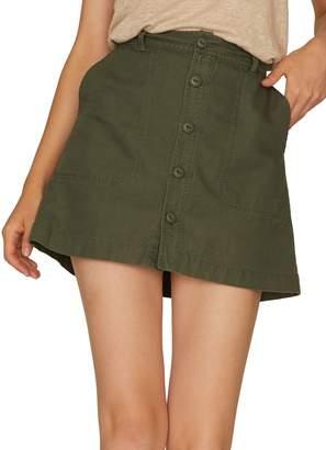 Sanctuary Peace March Surplus Cotton & Linen Mini Skirt