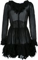 Givenchy creased ruffled dress - women - Polyester/Silk - 36