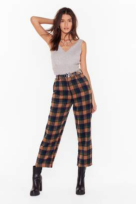 Nasty Gal Womens Checking in On You High-Waisted Tapered Trousers - green - 10