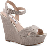 Nina Jinjer Platform Evening Wedge Sandals