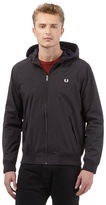 Fred Perry Big And Tall Black Hooded Jacket
