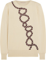 Christopher Kane Embroidered cashmere and silk-blend sweater