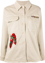 P.A.R.O.S.H. sequin embroidered jacket - women - Cotton/Spandex/Elastane - L