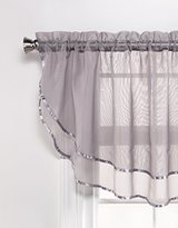 High-End Semi Sheer Voile Custom Window Treatments By GoodGram® - Assorted Colors & Sizes (Silver, Single Ascot Valance)