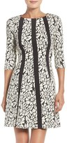 Gabby Skye Women's Floral Jacquard Fit & Flare Dress