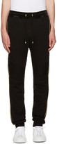 Balmain Black and Gold Trimmed Lounge Pants