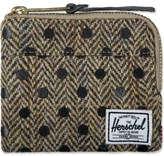 Herschel Black Polka Dot Johnny Harris Tweed Wallet