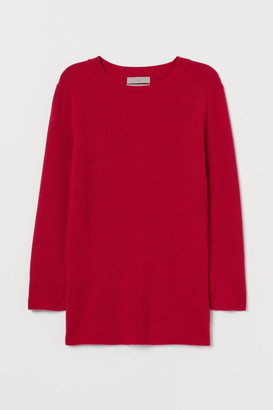 H&M Rib-knit Cashmere Sweater - Pink