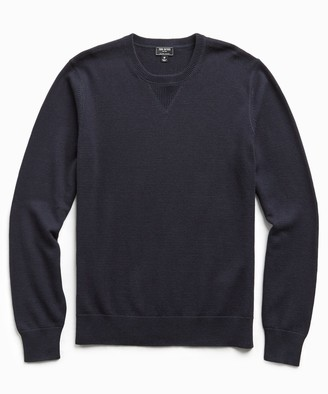 Todd Snyder Cotton Cashmere Sweater in Navy