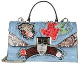 """Philipp Plein sara"""" Hand Bag With Embroidery And Applied Studs"""