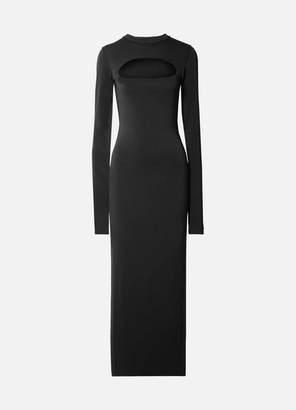 Marc Jacobs Runway Cutout Stretch-crepe Maxi Dress - Black