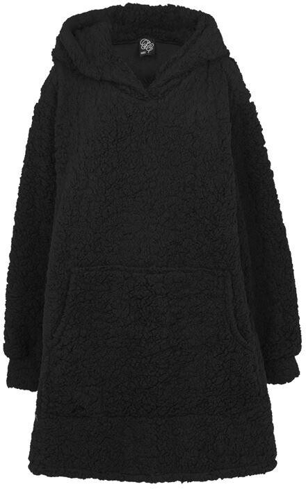 Fabric Black Oversized Cosy Fluffy Blanket Hoodie