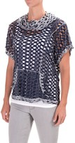 dylan Reversible Cutout Shirt - Cowl Neck, Short Sleeve (For Women)