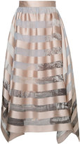 Fendi striped skirt - women - Silk/Polyester - 42