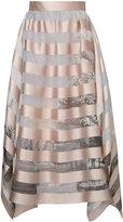Fendi striped skirt - women - Silk/Polyester - 44