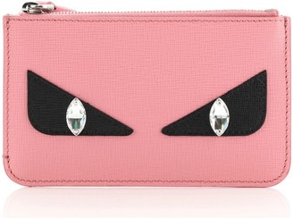 Fendi Monster Zip Key Pouch Leather