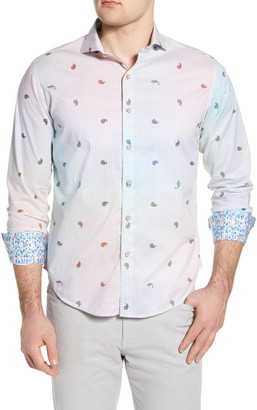 Robert Graham Karma Chameleon Paisley Check Print Button-Up Shirt