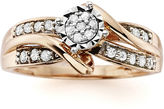 JCPenney MODERN BRIDE 1/4 CT. T.W. Diamond 10K Rose Gold Promise Ring