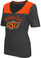 Women's Stadium Oklahoma State Cowboys College Twist V-Neck T-Shirt