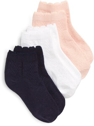 Tucker + Tate Assorted 3-Pack Diamond Pointelle Ankle Socks