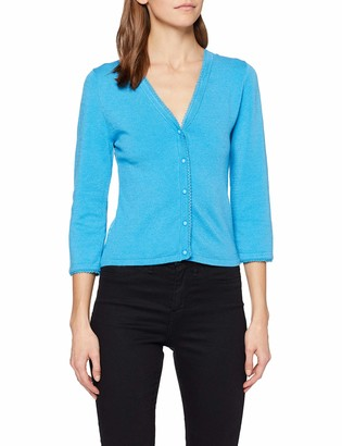 Wolfwhistle Wolf and Whistle Women's Blue Lace Back Cardigan 8
