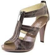 MICHAEL Michael Kors Berkley T Strap Women Open Toe Leather Brown Sandals.