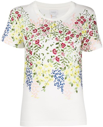 Giambattista Valli floral-embroidered T-shirt