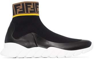 Fendi logo trim sock sneakers
