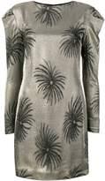 Victoria Victoria Beckham palm tree jacquard dress
