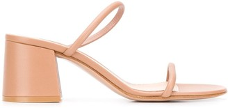 Gianvito Rossi Double-Strap Block-Heel Sandals