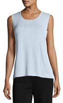 Misook Knit Scoop-Neck Tank Top, Light Blue, Plus Size