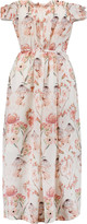 Mother of Pearl Lydia off-the-shoulder printed silk midi dress