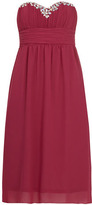 Dorothy Perkins Grape gem detail midi dress