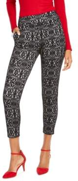 Thalia Sodi Printed Skinny Cropped Trousers, Creayed For Macy's