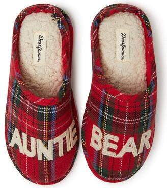 Dearfoams Women's Family Collection Auntie Bear Clog Slipper