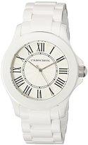Cabochon Women's 306 Ceramique Analog Display Swiss Quartz White Watch