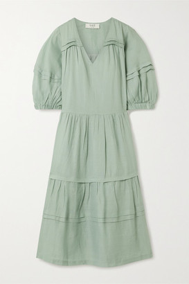 Sea Lucy Tiered Ramie Midi Dress - Mint