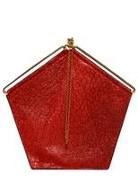Simone Rainer - Pentagon Textured Leather Top Handle