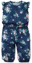 Carter's Flutter-Sleeve Floral-Print Jumpsuit, Baby Girls (0-24 months)