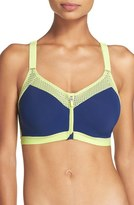 Wacoal Women's Zip Front Underwire Sports Bra