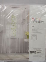 Martha Stewart Jcp Voile Window Scarf 7312537 French Taupe 60x144 V75