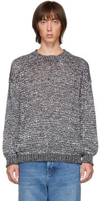 Loewe White and Black Melange Sweater