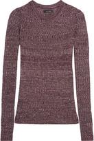 Isabel Marant Dayton Ribbed-knit Top - Burgundy