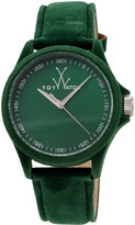 Toy Watch ToyWatch Sartorial Washed Leather Watch, Green