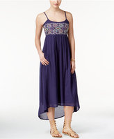 Roxy Juniors' Wild Horses Embroidered High-Low Dress