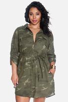 Fashion to Figure Solar Camo Shirt Dress