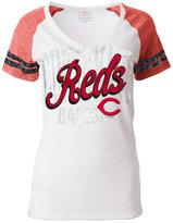 5th & Ocean Women's Cincinnati Reds White Hot T-Shirt