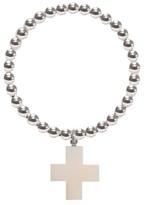 Buffalo David Bitton Ora Pearls Silver Orb Ring Bone Cross