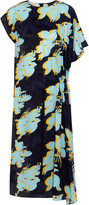 Cédric Charlier Floral-print washed-silk dress